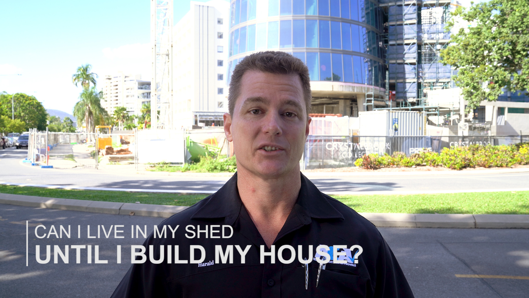 Can I live in my shed until I build my house?